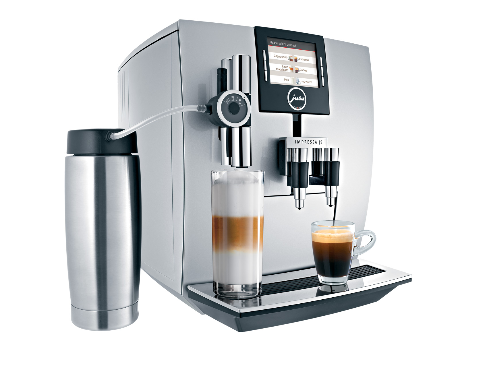 Jura - Impressa J90 One Touch OTC Automatic Coffee Machine Center, Silver
