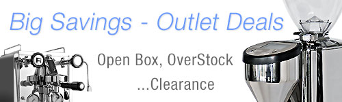 Espresso Machines Outlet, Open Box, Clearance, Refurbished